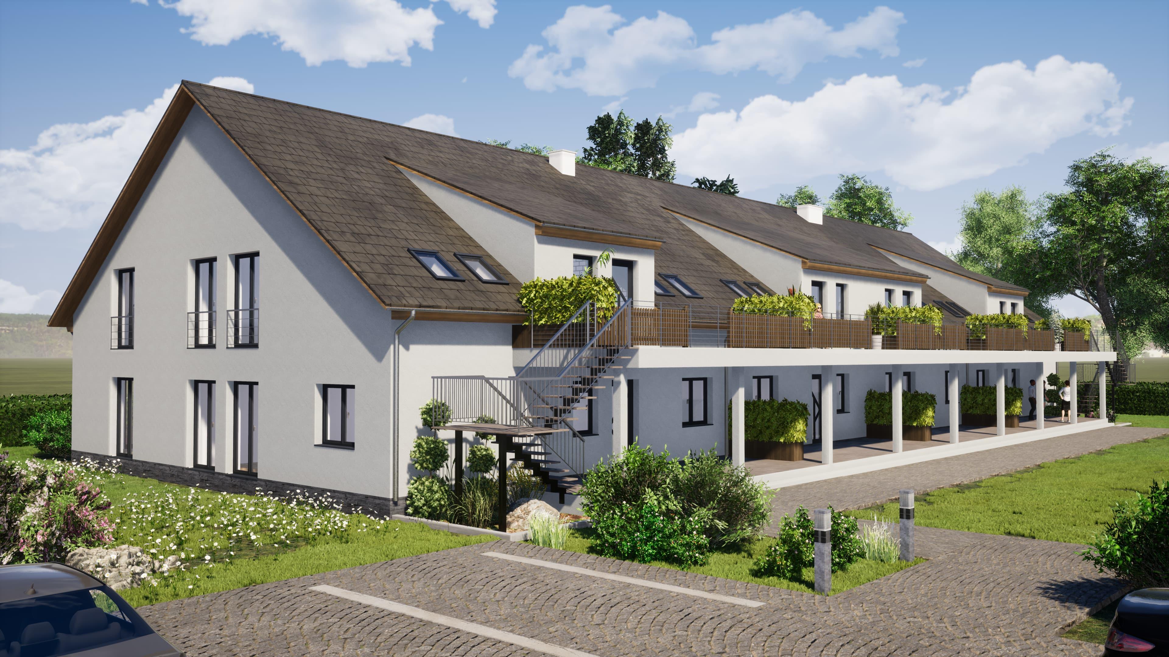 Visualisierung Mehrfamilienhaus Rendering