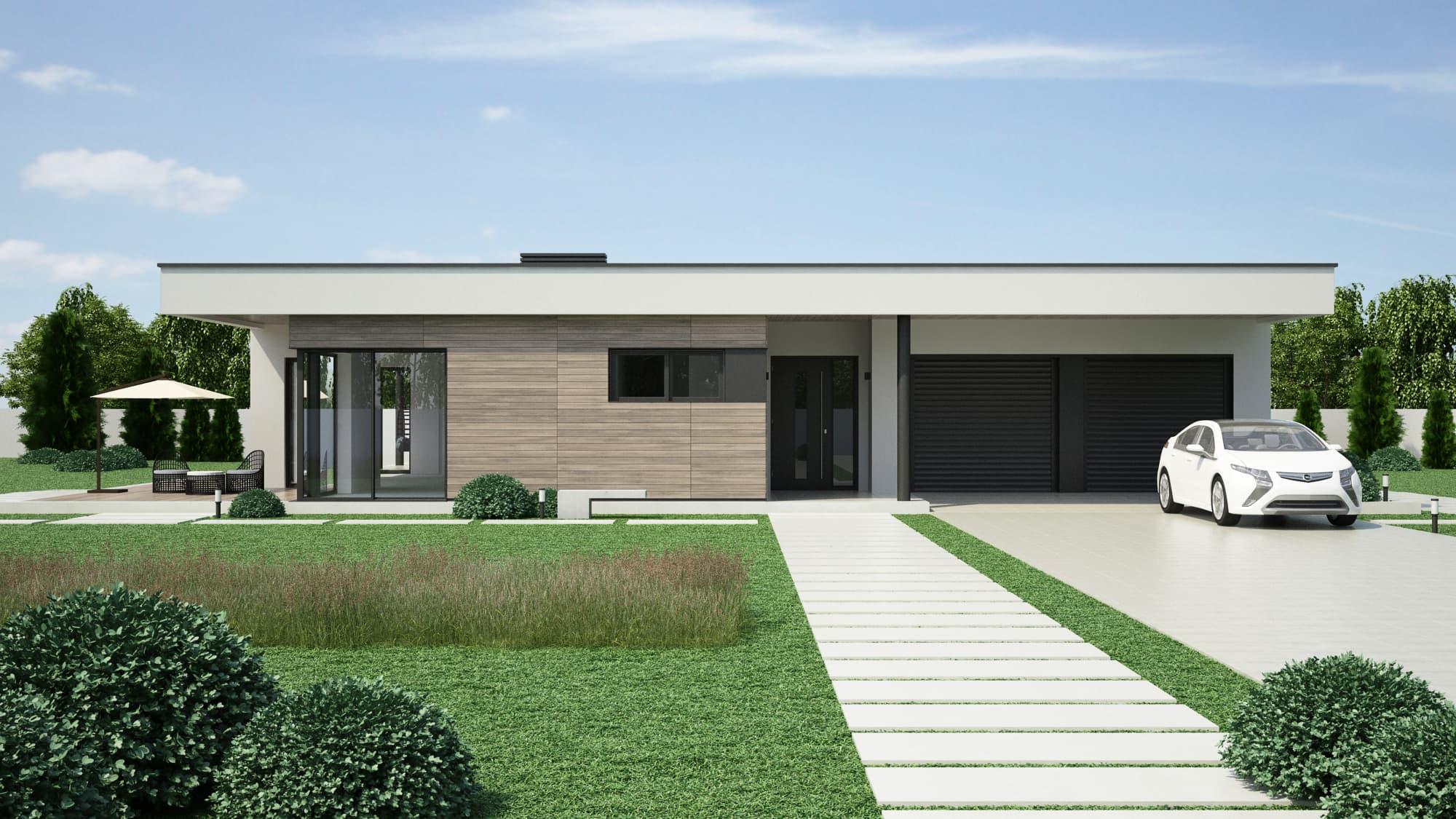 Visualisierung Einfamilienhaus Rendering