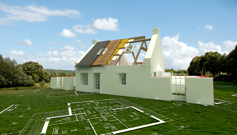 Bauplanung Haus Dachstuhl